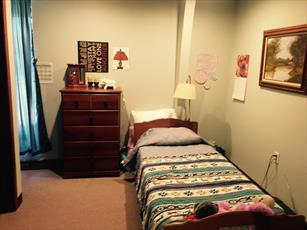 Residents furnish their room as they would like, creating a home-like atmosphere.
